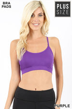PLUS CROSS BACK PADDED SEAMLESS ADJUSTABLE STRAPS