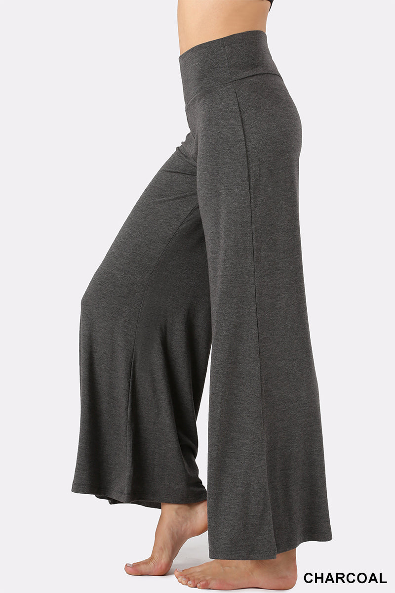 PREMIUM FABRIC PALAZZO PANTS - Zenana Outfitters Women's Clothing