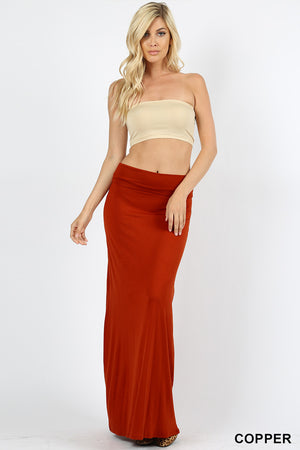 PREMIUM RAYON RELAXED FIT MAXI SKIRT