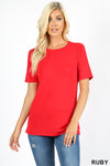 PREMIUM FABRIC SHORT SLEEVE ROUND NECK TEE