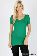 RAYON THIN BINDING SCOOP NECK TEE