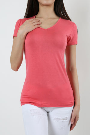 BASIC V- NECK SHORT SLEEVE TEE