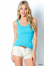 DOUBLE SCOOP NECK TANK TOP - Zenana Outfitters Women's Clothing