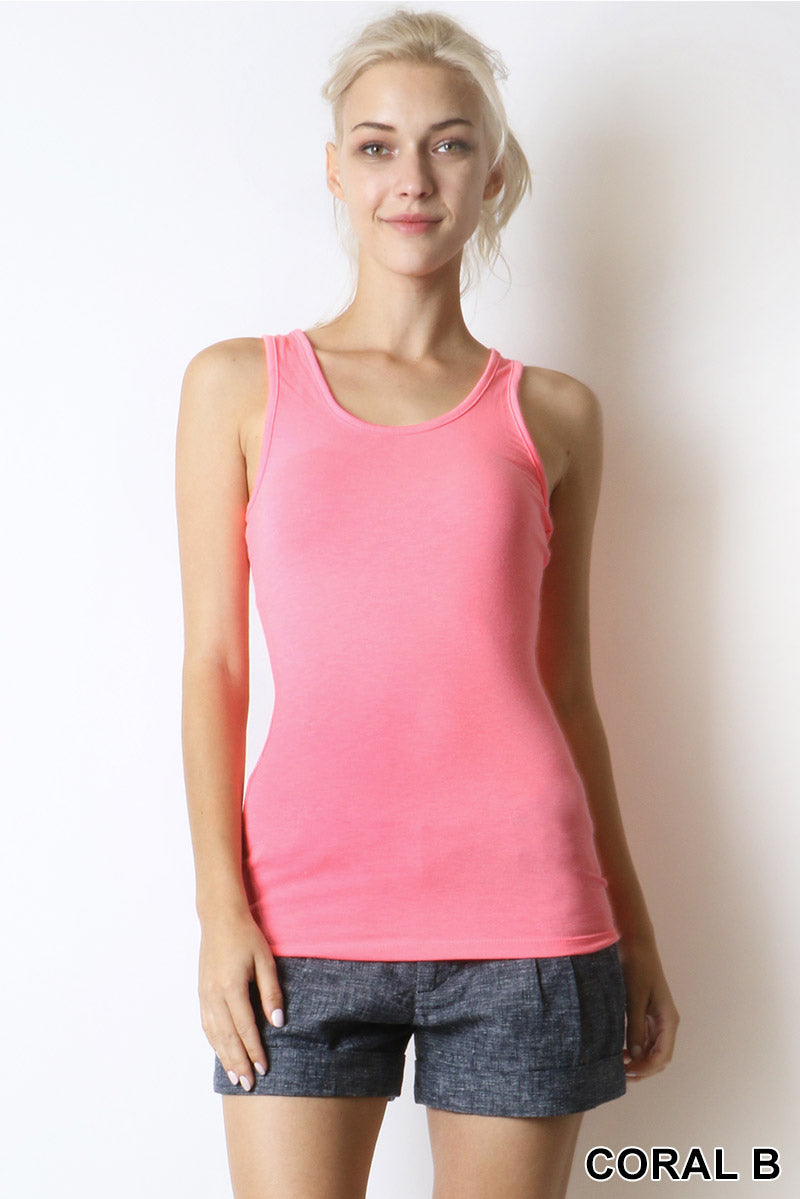 PREMIUM RAYON BASIC RACER-BACK TANK - Zenana Outfitters Women's Clothing