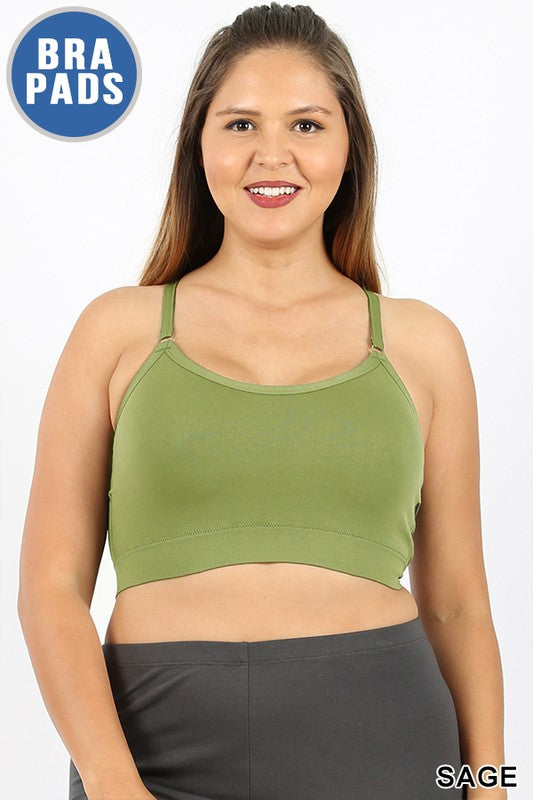 PLUS CROSS BACK PADDED SEAMLESS ADJUSTABLE STRAPS - Zenana Outfitters Women's Clothing