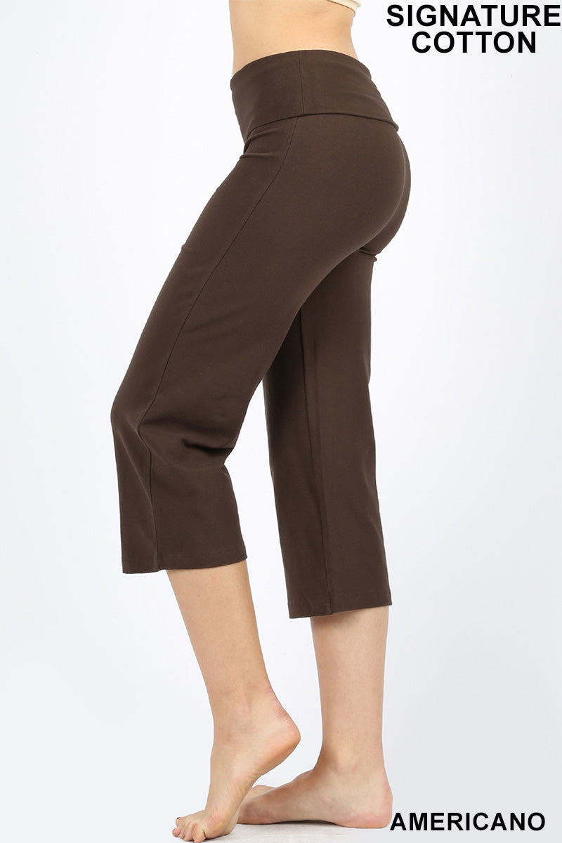 FOLD-OVER YOGA CAPRI PANTS - Zenana Outfitters Women's Clothing