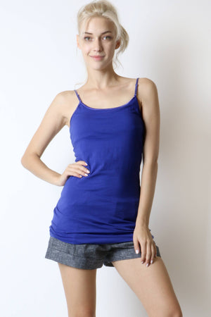 LONG LINE BUILT-IN BRA CAMI - Zenana Outfitters Women's Clothing