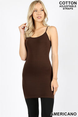 New Zenana Outfitters 2X Stretch Jersey Long Line Bodycon Tank Top  Charcoal