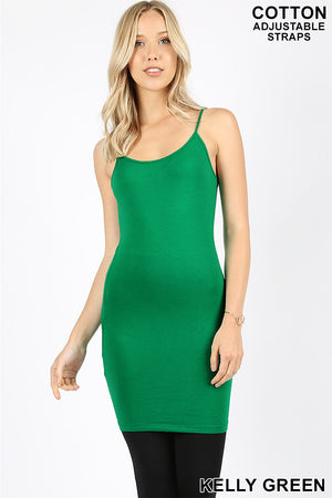 LONGLINE BODYCON CAMI WITH ADJUSTABLE STRAP