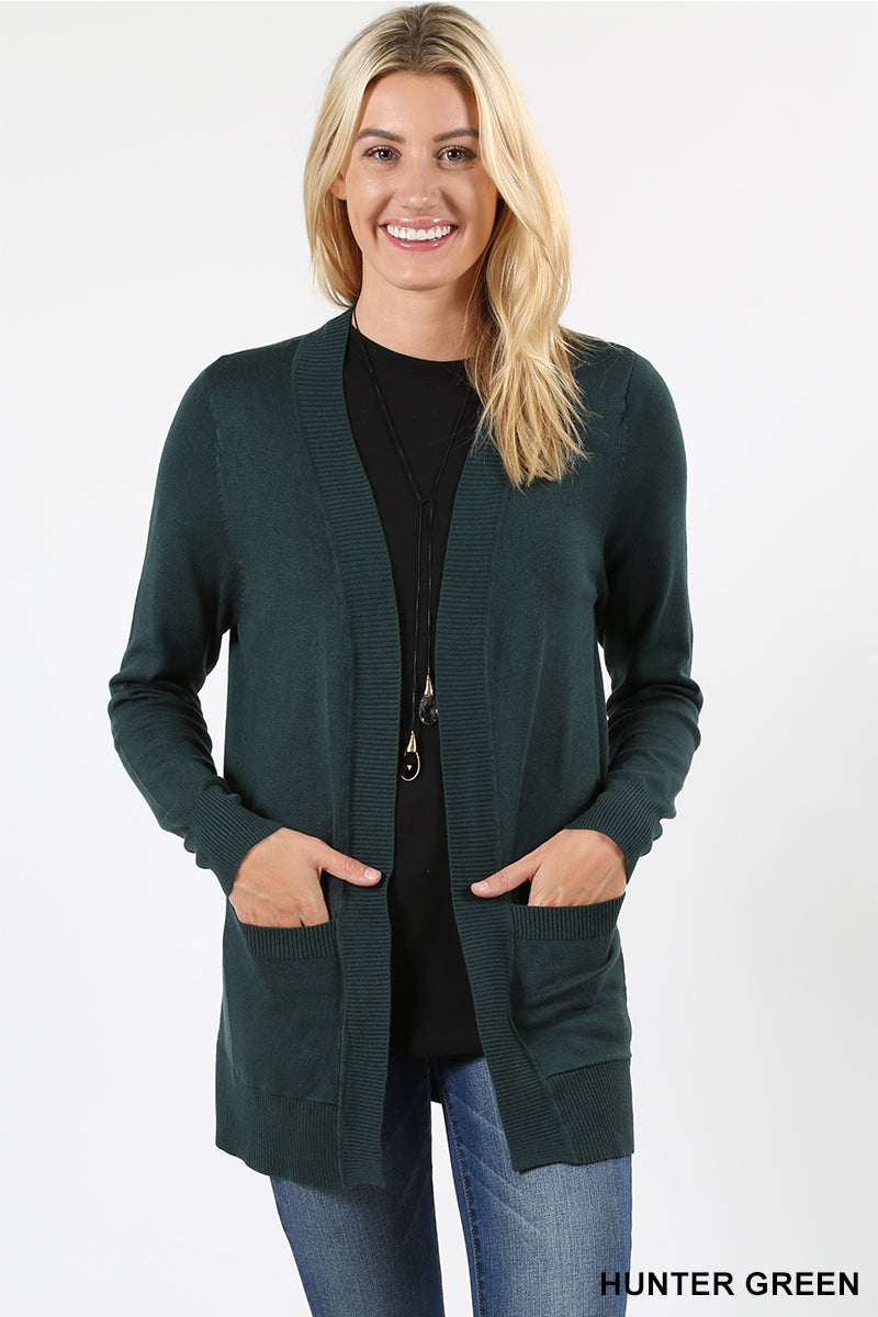 OPEN CARDIGAN SWEATER - Zenana Outfitters Women's Clothing