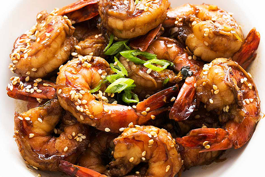 Thai Inspired Garlic Prawns