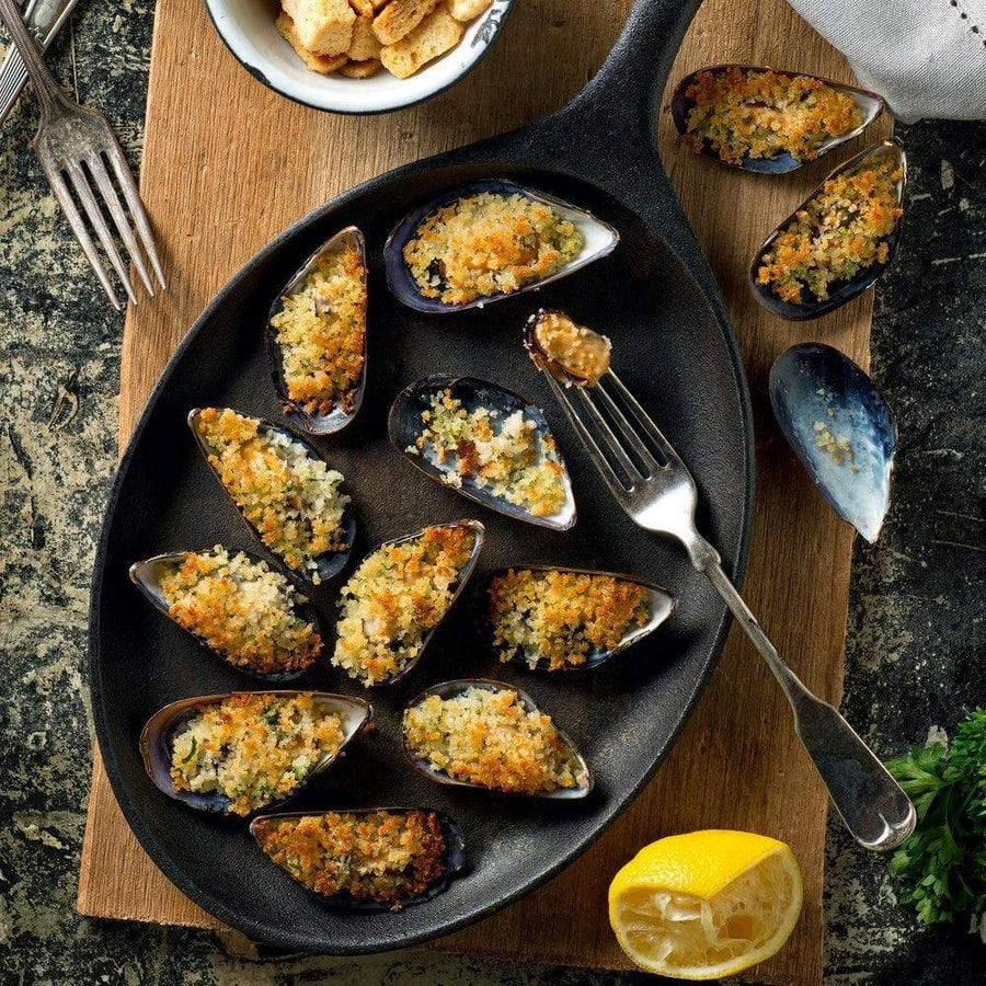 Not specified General Crumbed Garlic Mussels 1Kg