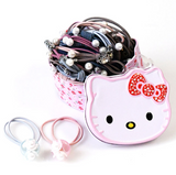 Set de 18 elastice de par Hello Kitty - bej