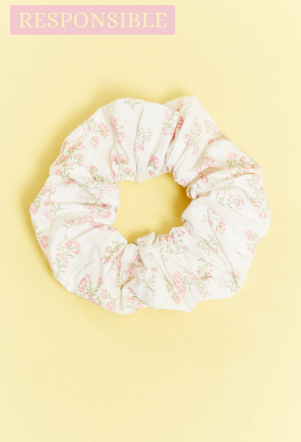 Eleanora Ditsy Floral Scrunchie - Cream