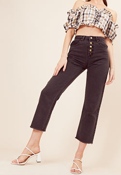 High-Waist Mom Jeans <br> Black