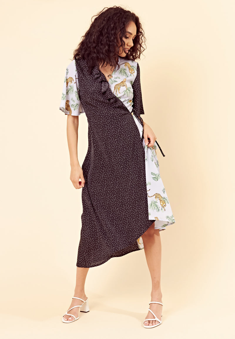 Savannah Mix And Match Wrap Dress - Multi
