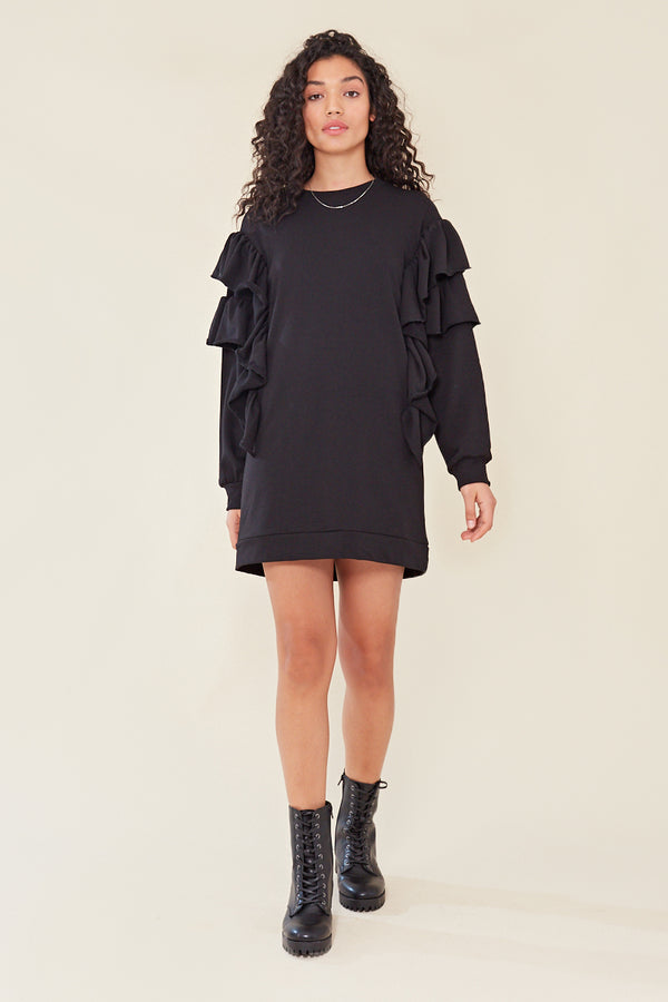 Frilled Jumper Mini Dress </br> Dress