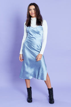 Star Midi Slip Dress <br/> Blue