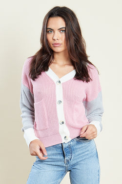Knit Cardigan <br/> Pink