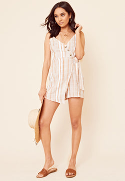 Stripe Wrap Playsuit <br> Multi