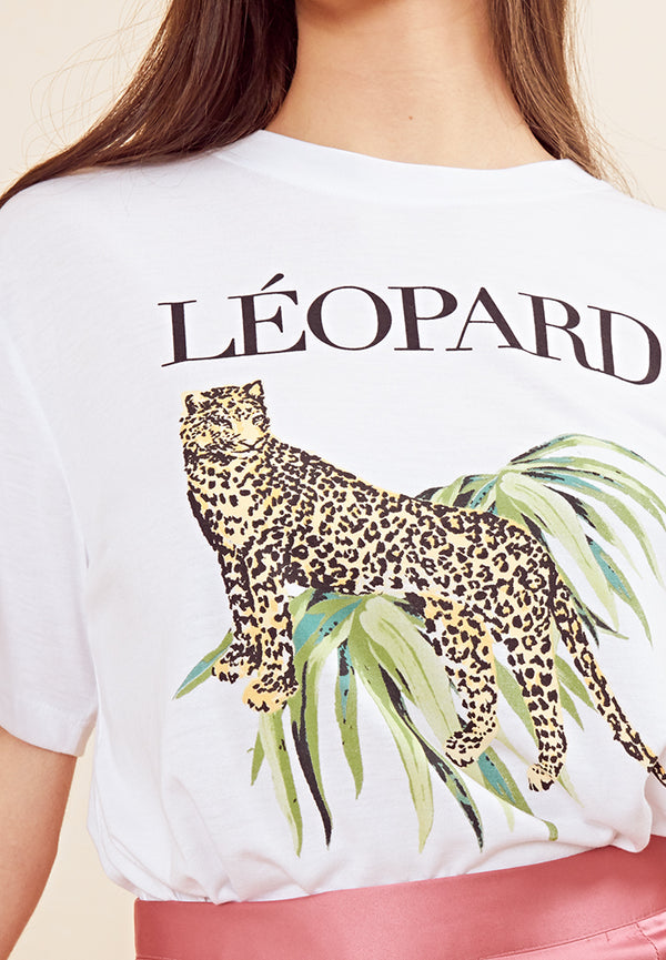Leopard T-Shirt <br> White