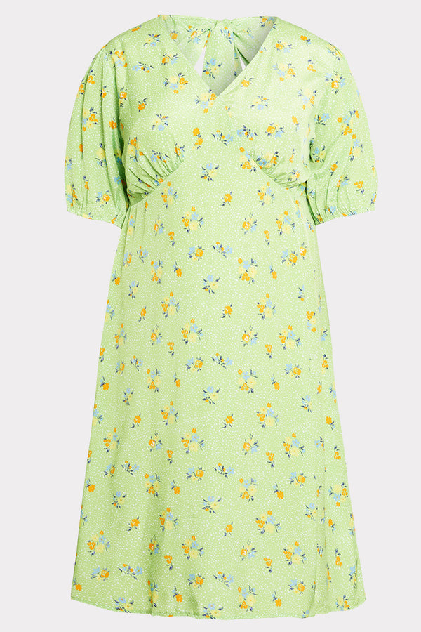 Ditsy Floral Midi Dress  - Curve
