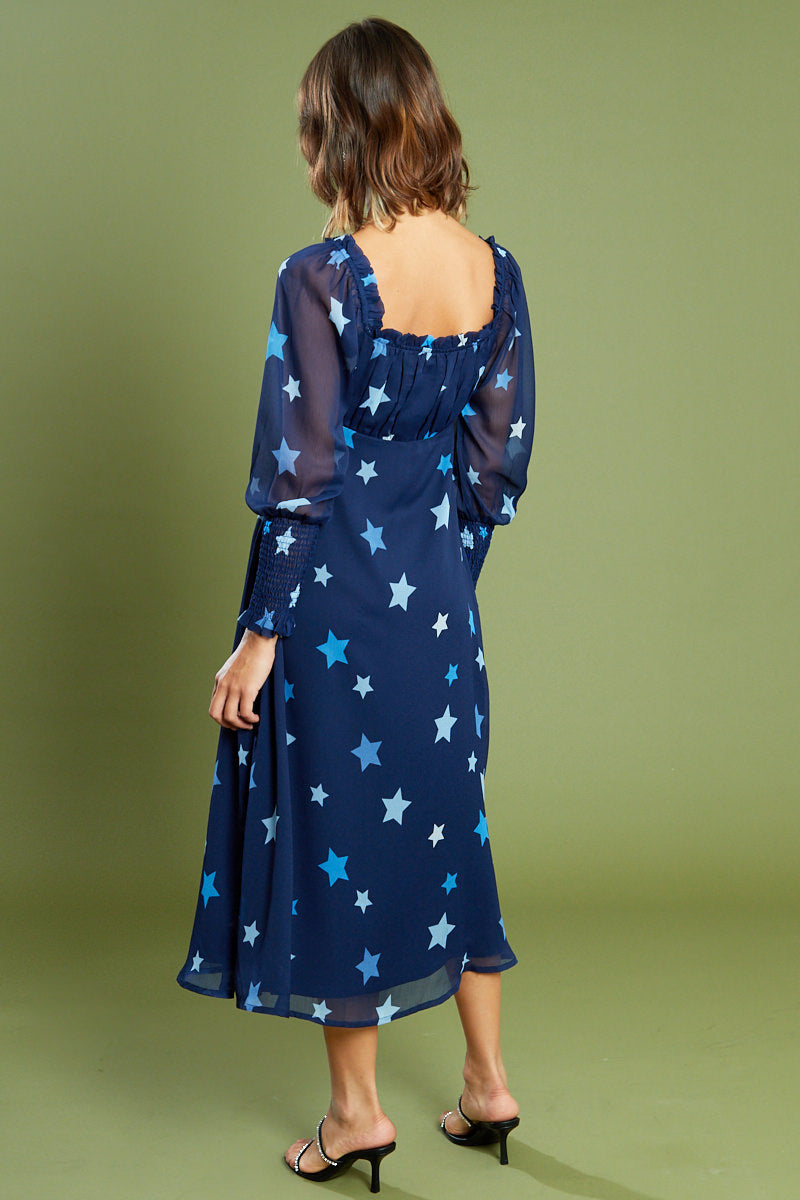 Aurora Star Sweetheart Midi Dress <br/> Curve