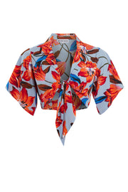 Lola Floral Tie Front Shirt