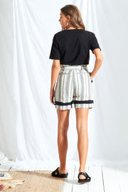 Stripe High Waist Shorts