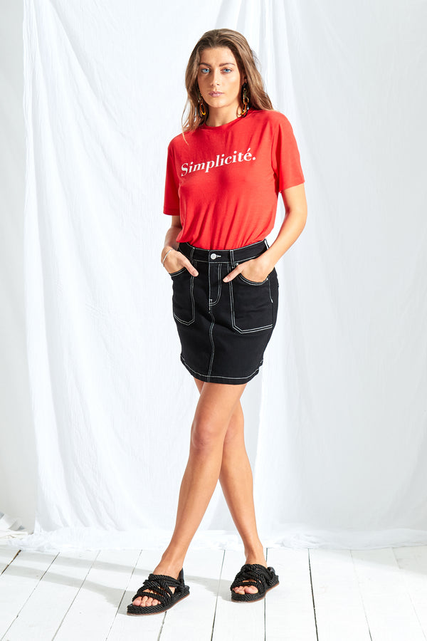 Simplicité T-Shirt - Red