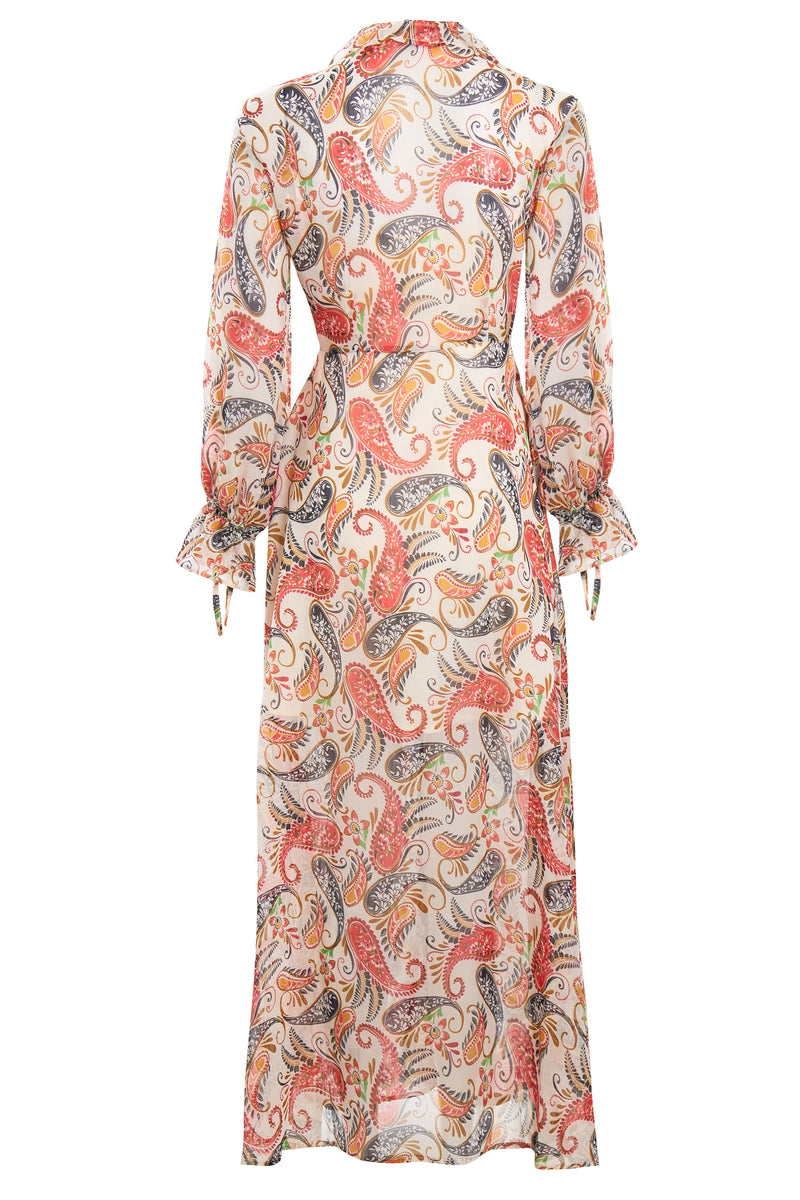 Delilah Paisley Hanky Hem Maxi Dress - Multi