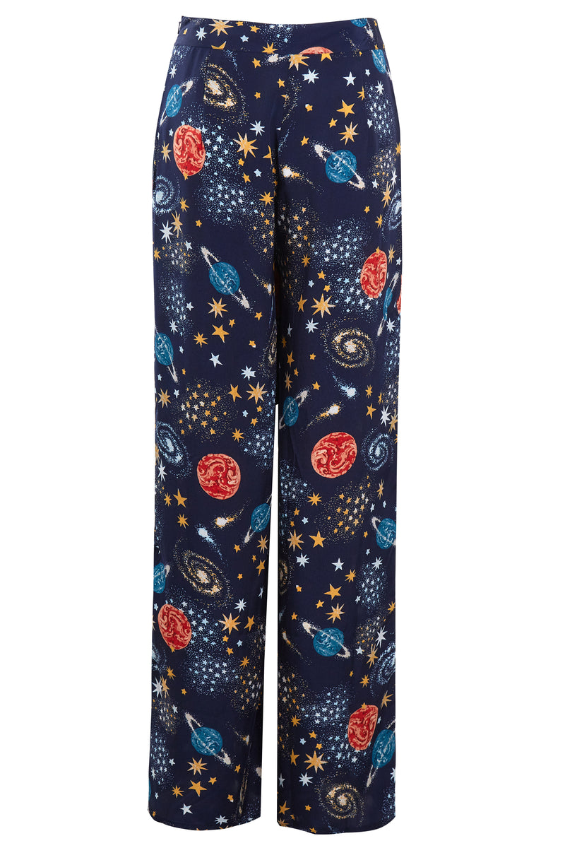 Stella Constellation Print Wide Leg Trousers - Blue