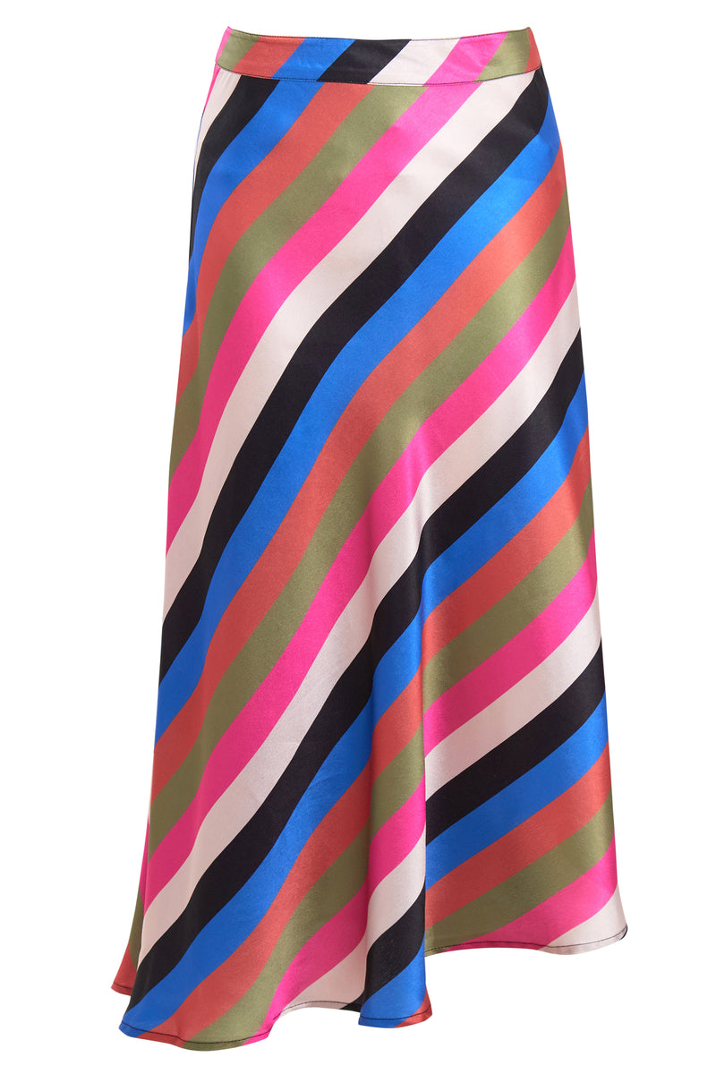 Sienna Stripe Midi Skirt - Multi