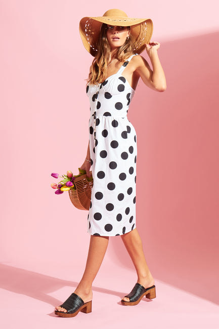 Spot Button Down Sundress