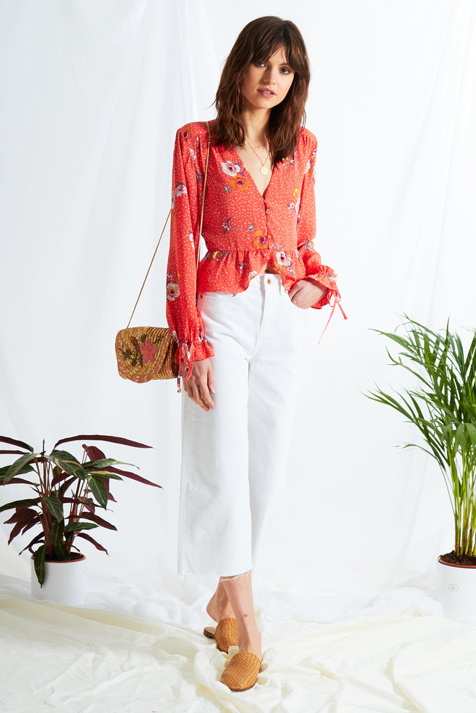 0e60e2ceb02ef2 Gabrielle Floral Tea Blouse. Free next day delivery when you spend over £50