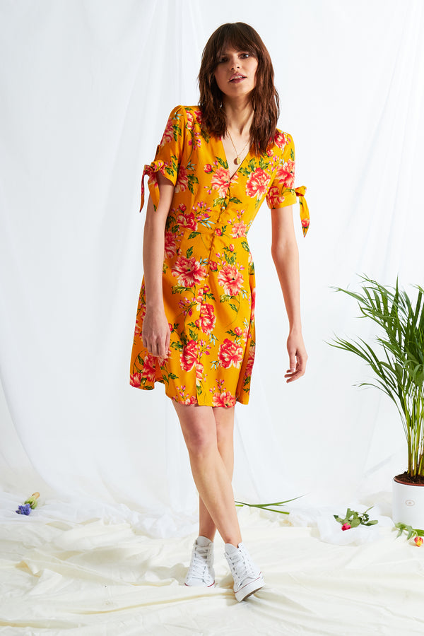 Gardenia Tea Dress - Yellow