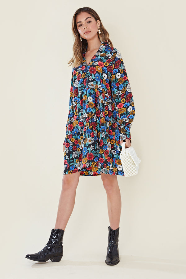 Floral Tiered Midi Dress <br/> Multi