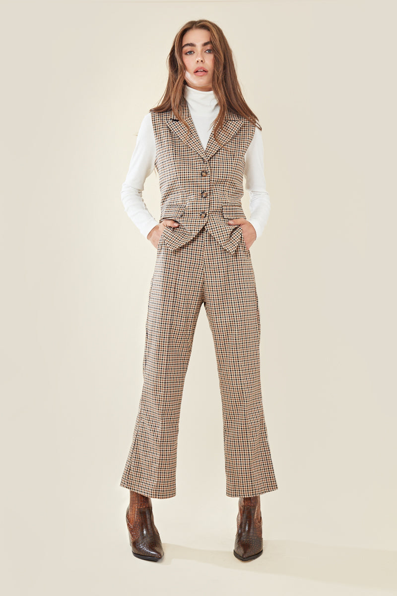 Check Kick Flare Trouser </br> Multi