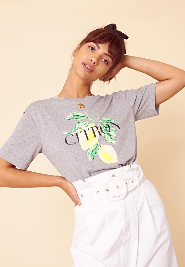 Citron T-Shirt <br> Grey