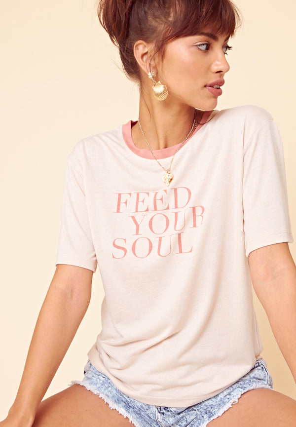 Feed Your Soul T-Shirt <br> Pink