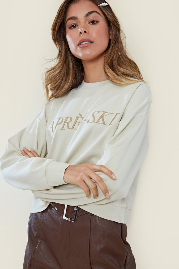 Apres Ski Sweat Top <br/> Cream