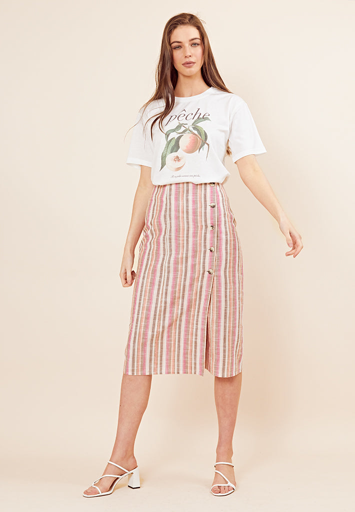 Pêche T-Shirt <br> Cream