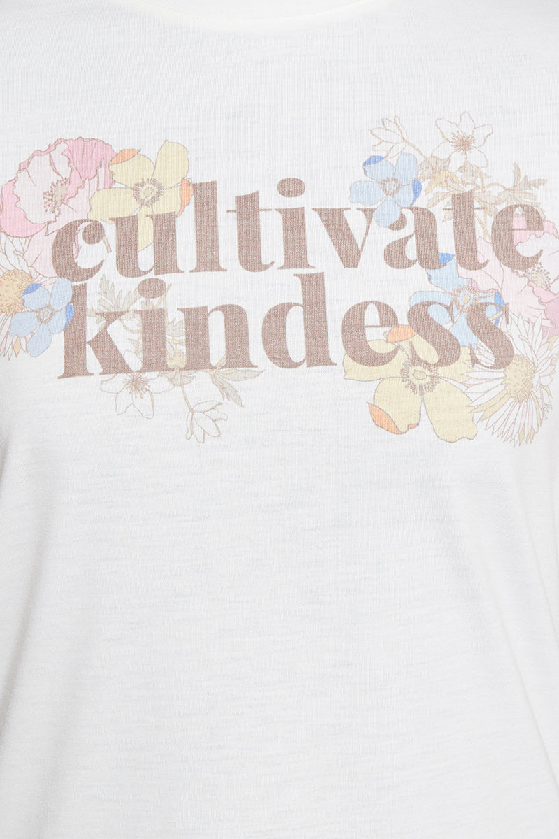 Cultivate Kindness Graphic Tee - Cream
