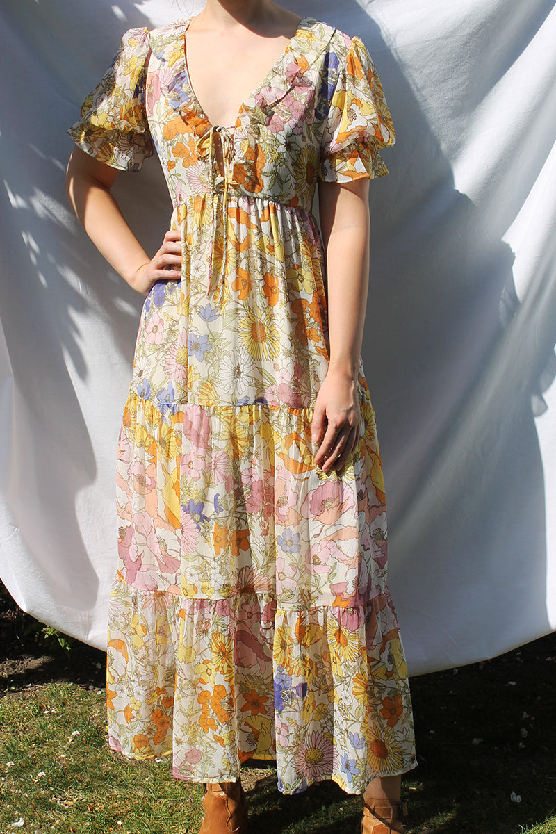 Theodora Floral Maxi Dress <br/> Multi