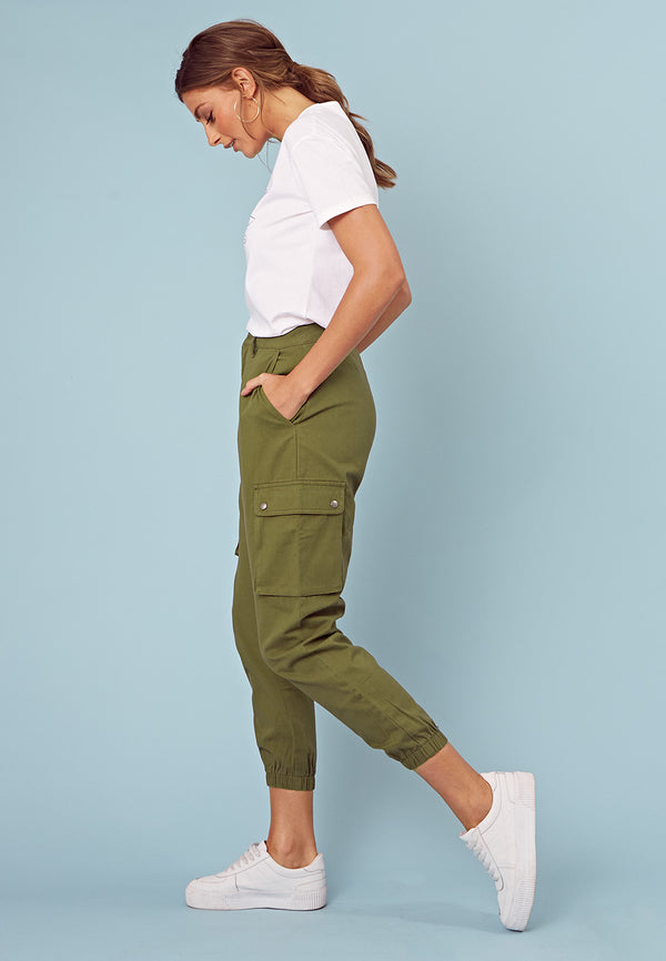 Cargo Trousers With Pockets <br> Green