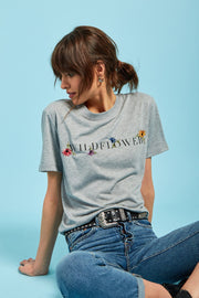 Wildflower Embroidered Tee