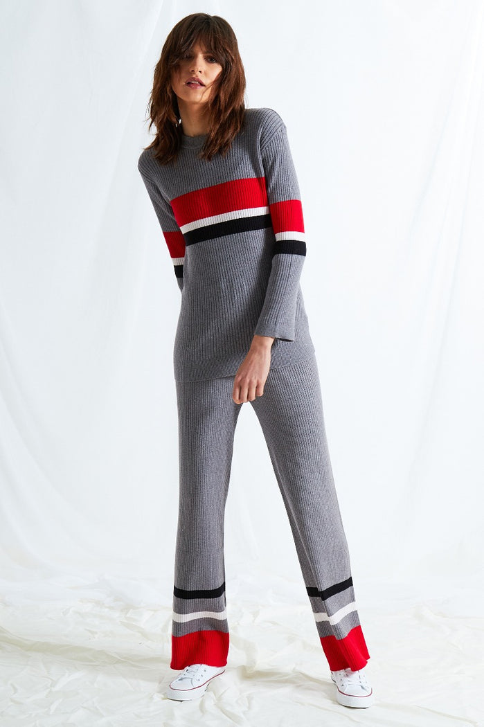 Colour Block Stripe Pants