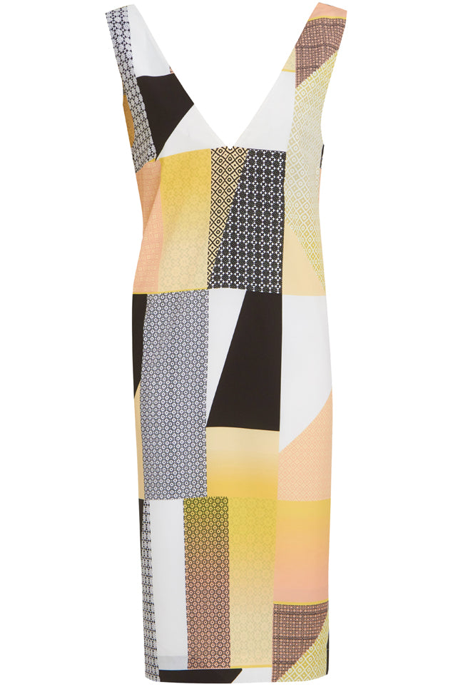 Peaches And Cream Patchwork Dress