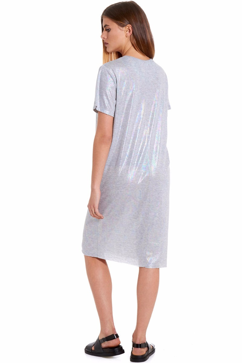 Grey Marl Mermaid T Dress