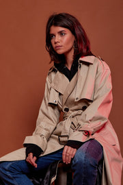 Oversized Canvas Trench Coat